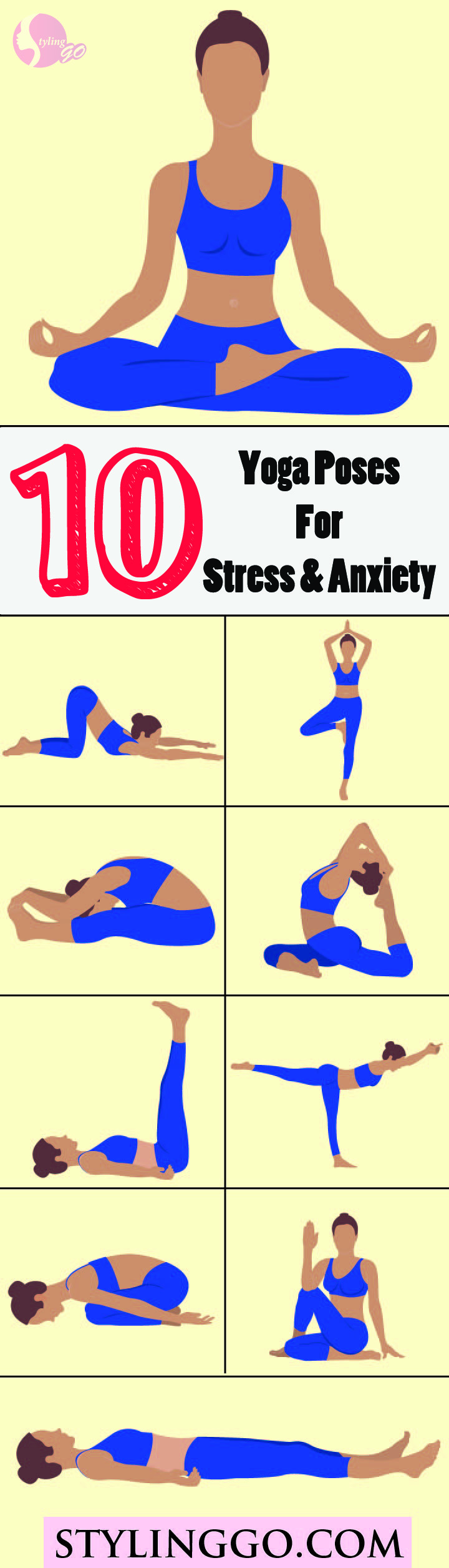top 10 yoga poses for stress and anxiety