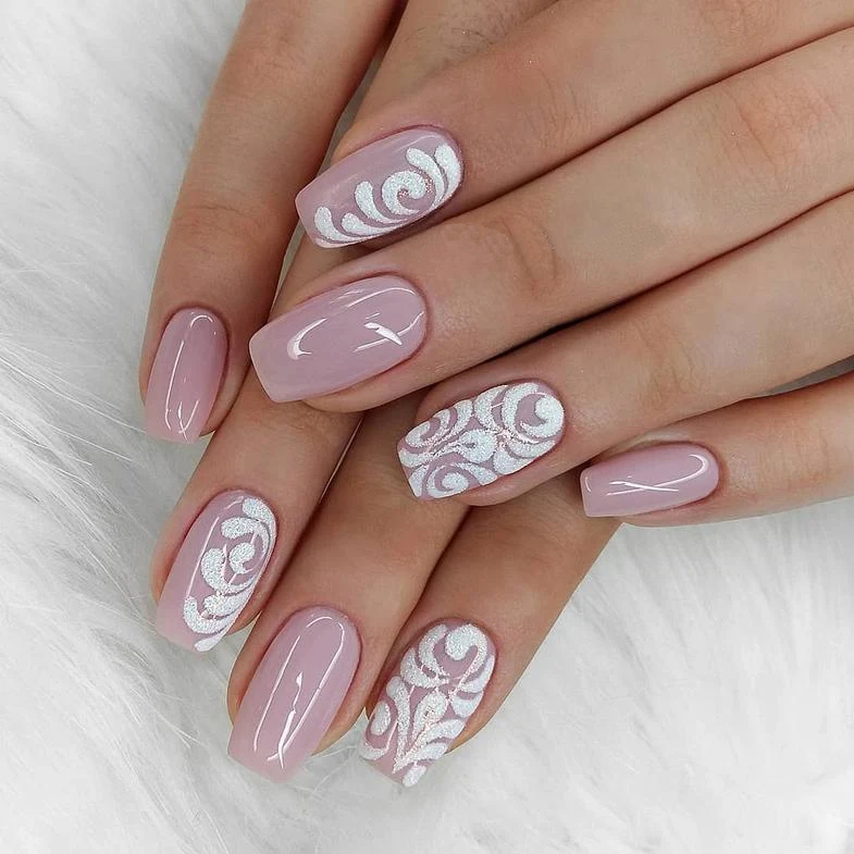 50 Trendy Pink And White Nails For 2020 - Stylinggo